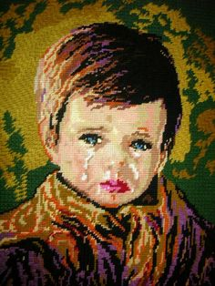 Bragolin Crying 'Gypsy' child #embroidery