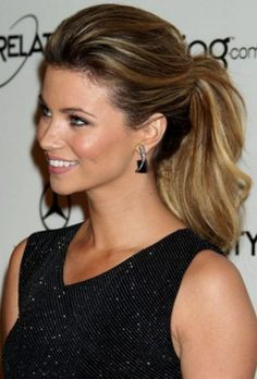 2013 Celebrity Ponytail Hairstyle - Poofy ponytail Spring Trend/ Love the color!