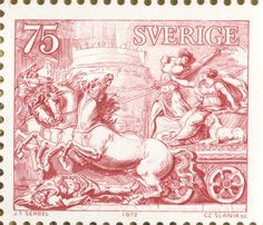 "Sweden 75ö ""Swedish art from the XVIIIth century"" -art by Johan Tobias Sergel."