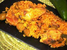 Arroz con pollo al ajillo - Por Javier Romero