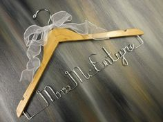 Custom Bridal Hangers Personalized Hangers by OriginalBridalHanger, #WeddingDressHangers #BrideHangers #NameHangers, $25