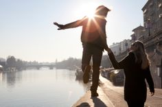 View top-quality stock photos of Couple Walk In Balance Along Stone River Wallcity. Find premium, high-resolution stock photography at Getty Images. Couples Walking, Walled City, Romantic Dates, High Resolution Photos, Dating, Romance, In This Moment, River, Stock Photos