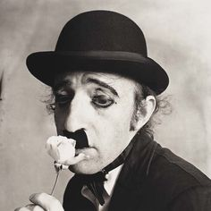 Woody Allen as Chaplin - New York - 1972 - Photo by Irving Penn