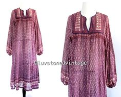 Vintage 70s Rare Amber Indian India Purple by LuvStonedVintage, $258.00