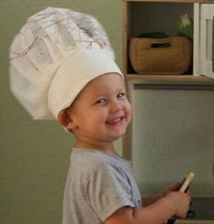 Learn How to Make a Chef's Hat for a DIY Halloween costume or dress up outfit for your little sous chef. In just a few simple steps, you can sew a professional, realistic DIY chef hat that is much more budget-friendly than a store-bought costume.