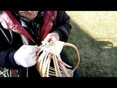 Плетение аутентичных белорусских кошиков из лозы - YouTube