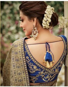 Bridal Blouse Designs 2020 Latest Saree Blouse Back Designs Latest Saree Blouse, Saree Blouse Neck Designs, Kurti Neck Designs, Fancy Blouse Designs, Bridal Blouse Designs, V Neck Blouse, Sari Design, Stylish Blouse Design, Party Wear