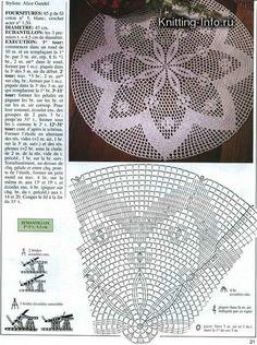 World Crochet Napkin 611 - Háčkování Free Crochet Doily Patterns, Crochet Doily Diagram, Crochet Motifs, Crochet Chart, Thread Crochet, Filet Crochet, Crochet Designs, Crochet Doilies, Knit Crochet