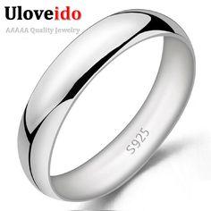 Almei unisex anillos para mujeres de los hombres de moda anillo de plata anillo de boda anel masculino suave homme bague bijoux joyería 2017 j017