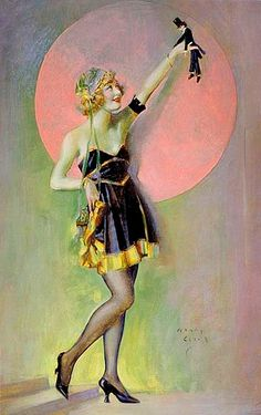 """Vintage Henry Clive """"Denseuse des  Ziegfeld follies"""""""