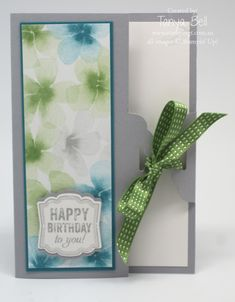 Stampin' Up! Stamping T! - Scallop Tag Closure Card