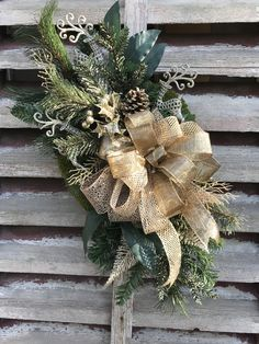 All Winter Long After Christmas Farmhouse Gold Elegance with Pine on grapevine Wreath for Door , wreaths for front door, farmhouse by DesignsbyDebbyOhio on Etsy Wreath Wreaths Flower Wreath Spring Wreath Felt Easter Wreaths, Holiday Wreaths, Christmas Decorations, Spring Wreaths, After Christmas, Etsy Christmas, Christmas Door, Etsy Wreaths, Country Wreaths