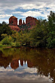Cathedral Rock Reflection in Sedona, Arizona - USA