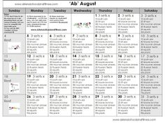 'Ab August'... August Fitness Challenge!!