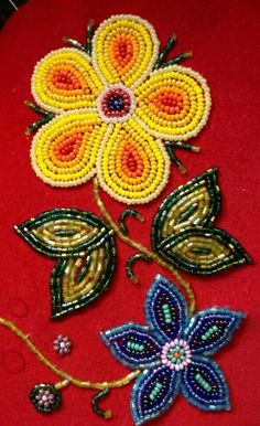 beadwork More Indian Beadwork, Native Beadwork, Native American Beadwork, Native Beading Patterns, Beadwork Designs, Bordados Tambour, Beaded Embroidery, Hand Embroidery, Broderie Simple
