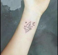 70 beautiful minimalist tattoos that are tiny small but rh pinterest com Simple Forearm Tattoos simple sailing tattoos