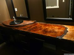 concrete counter top -what I am doing in my master bathroom! (just the concrete color countertop!