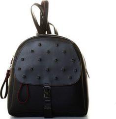 FRNC 204 BLACK Leather Backpack, Fashion Backpack, Backpacks, Bags, Handbags, Leather Book Bag, Leather Backpacks, Taschen, Purse
