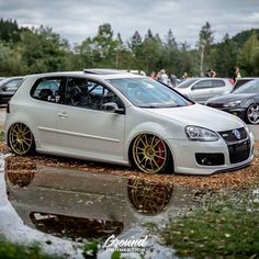 Golf MK5 #golden wheels