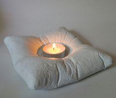 Cement Pillow Tealight Candle Holder
