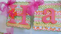 Luau Birthday Banner with name and age by ASweetCelebration