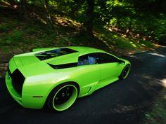 Lamborghini Murcielago In Neon Salad Green