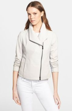 Vince Leather Scuba Jacket available at #Nordstrom