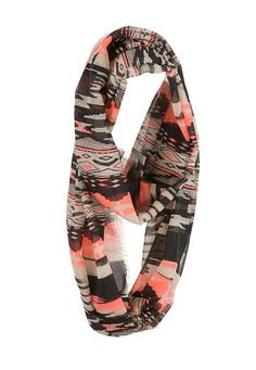 Geo Print Infinity scarf with frayed edges (original price, $14) available at #Maurices