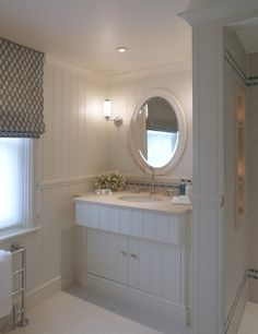 Vanity Unit, with shower enclosure to the right