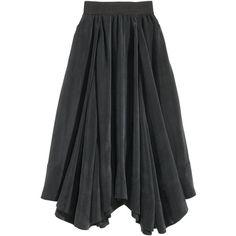 Cupro Maxi Skirt $69.99 ($70) via Polyvore featuring skirts, long skirts, elastic skirt, long floor length skirts, long ankle length skirts and floor length skirt