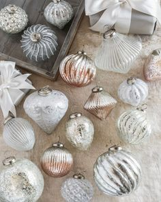 Foil French Country Ornament Set, 12 Pieces