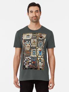 "The Kunst Haus Wien (""Art House"" – architect: Friedenreich Hundertwasser), Vienna, Austria. Vienna Austria, Canon Eos, Tshirt Colors, Female Models, Chiffon Tops, Classic T Shirts, Shirt Designs, Artists, Popular"