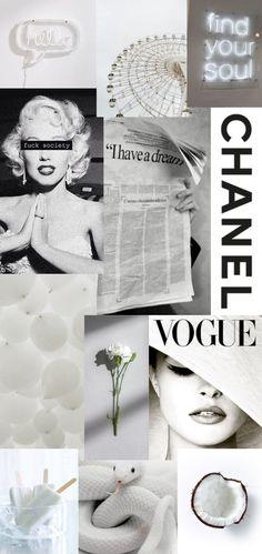 white collage wallpaper