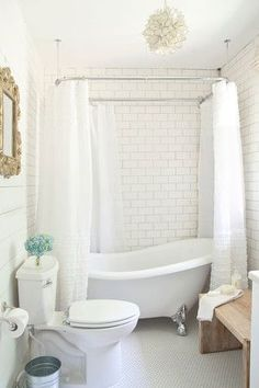 bright, white, beautiful vintage bathroom