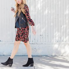 My favorite way to style a spring dress for these transitional months: layer a faux leather vest and add a pair of pointed toe booties.  // http://liketk.it/2qWFB #liketkit @liketoknow.it #LTKStyleTip #LTKUnder50 #LTKUnder100  Shop this pic via screenshot with the new LIKEtoKNOW.it app