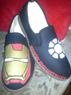 Iron Man Shoes by ScootShoes on Etsy, $30.00