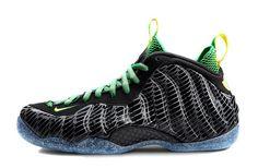 competitive price 7985e 097a7 Mens Nike Air Foamposite One Oregon Ducks Black Apple Green-Yellow Strike  New Jordans