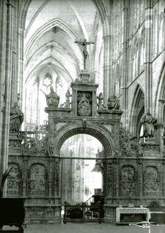 León, fotos antiguas, interior de la catedral.