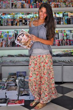 floral maxi // loose layers
