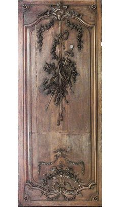 important set of 32 19th century french oak paneled walls with