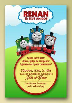 Convite Digital - Thomas e seus Amigos