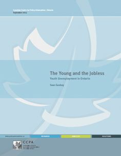 Hope this report will finally convince the Federal Government to take the issue seriously. Youth unemployment is a problem throughout Ontario, but the numbers are particularly alarming for Toronto.  http://www.policyalternatives.ca/publications/reports/young-and-jobless