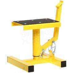 Race FX Single Pillar Bike Stand - Yellow