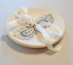Ring Bearer Bowl Wedding Ring Dish Ring Plate by TheKindestWord