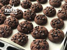 Damla Çikolatalı Kurabiye ( Ağızda Dağılan) - Nefis Yemek Tarifleri Muffin, Cookies, Chocolate, Breakfast, Desserts, Food, Crack Crackers, Morning Coffee, Tailgate Desserts