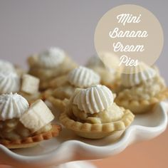 These mini cream pies aren't even big enough to fit a whole slice of banana! Get the recipe from Handmade in the Heartland.   - Delish.com