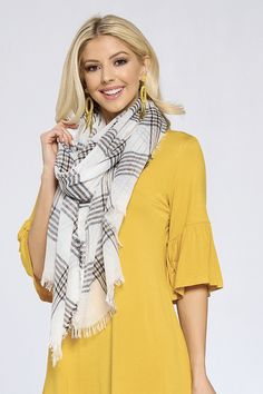 Bailey Plaid Scarf by Accent Accessories Great Gifts For Mom, Plaid Scarf, Scarves, Accessories, Scarfs, Jewelry Accessories