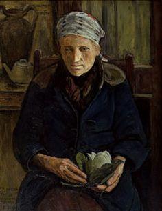 Mujer con magnolia-E Daneri