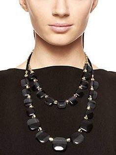 colorblock double strand necklace by kate spade new york