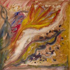 Chemin de vie - Peinture,  50x50x1,3 cm ©2016 par Maï Laffargue -                            Couleurs, rêves, oiseau, love